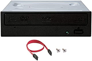 Pioneer BDR-212DBK Internal 16x Blu-ray Writer Drive with SATA Cable and Mounting Screws - Burns CD DVD BD DL BDXL Discs