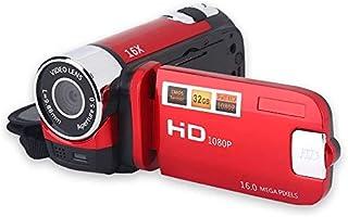 MXECO Videocámara VideocámaraVlogging portátil Grabador de cámara Full HD 1080P 16MP 2.7 Pulgadas Pantalla LCD de rotación de 270 Grados 16X Zoom Digital Videocámara Soporte Selfie y Disparo Continuo