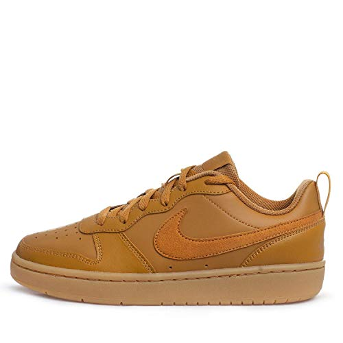 Nike Court Borough Low 2 (GS) Hohe Sneaker, Mehrfarbig (Wheat/Wheat-Gum Light Brown 700), 37.5 EU