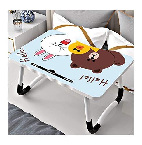 Bed kleine tafel slaapkamer zitten opvouwbaar eenvoudige multifunctionele laptop lui college slaapzaal slaapzaal op de kleine tafel om non-slip klein bureau bed tafel kinderen leren (Color : Blue)