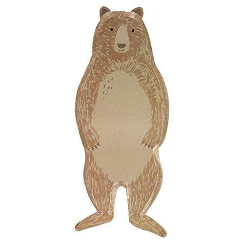 Meri Meri Plato grande de oso marrón