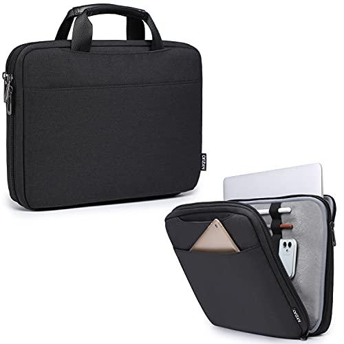 HYZUO 13-13,5 Zoll Laptophülle Multifunktion Handtasche kompatibel mit MacBook Air 13 M1/MacBook Pro 13 M1/ 13,5 Surface Laptop/Book/Dell XPS/Inspiron 13/ HP Envy/Spectre x360/Pavilion 13, Schwarz