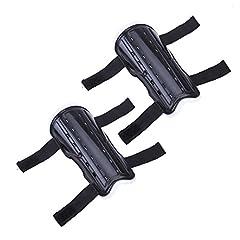 LIOOBO Kinderfußball-Schienbeinschoner Kinderfußballausrüstung mit Knöchelärmeln