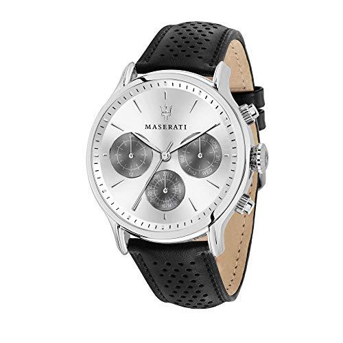 Orologio da uomo, Collezione Epoca, movimento al quarzo, multifunzione, in acciaio e cuoio - R8851118009