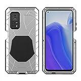 carcasa de telefono Caso de la caja del teléfono Ajuste Fit For Xiaomi 10T Pro 10T Lite con vidrio templado Protección de trabajo pesado Armadura de armadura de aluminio duro Accesorios de teléfono