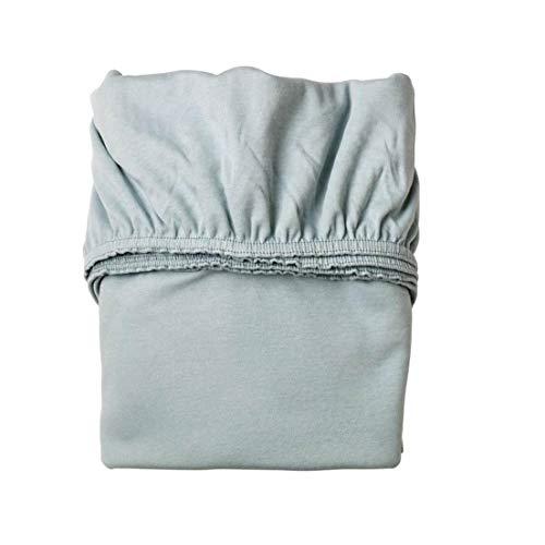 Leander Doppelpack Weiches Jersey-Bettlaken für Babybett (nebelblau)