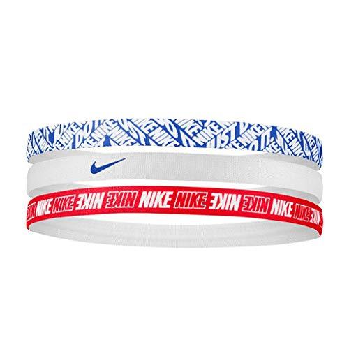 Nike Printed - Bandas para la piel (3 unidades), color rosa, blanco y azul