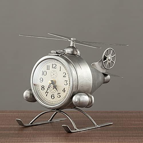 Reloj De Mesa Retro, Nostalgic Hierro Forjado Aeroplano Reloj Reloj Reloj Creativo Sala De Estar Vino Gabinete TV Mueble Dormitorio Dormitorio Reloj Digital Reloj