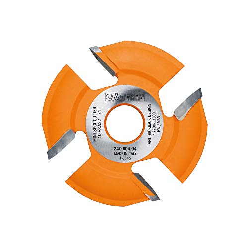 CMT 240.004.04 4' x 4 Tooth, 22mm Bore, Mini Spot Biscuit Joiner Blade for Lamello