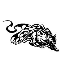 車のステッカーの装飾 17.9CM * 10CMファッションタイガーフレイムパターンの車のステッカーバンパーを飾るビニールデカールブラック/シルバー (Color Name : Black)
