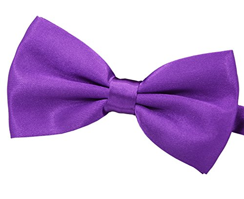 Amajiji Formal Dog Bow Ties for Medium & Large Dogs (D112 100% Polyester) (Purple)