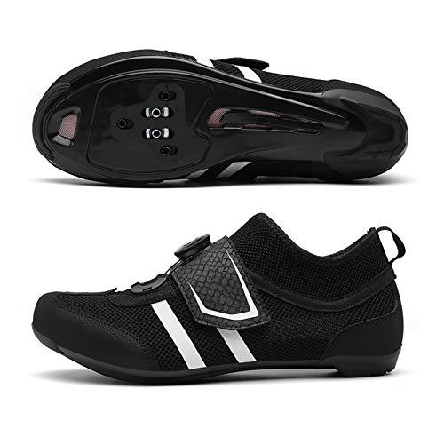 XKUN 【Nuevo 2021】 Zapatillas de Ciclismo EVO, para Carretera, con Suela de...
