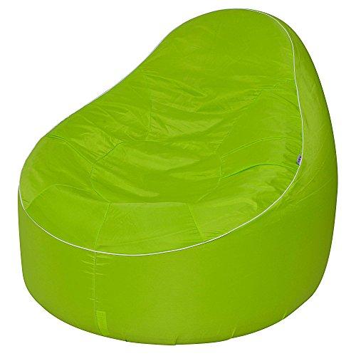 Avenli Pouf II Lounge Ø 118x110 cm Sessel Gartensessel Sitzkissen Sitzsack aufblasbar Outdoor Indoor grün