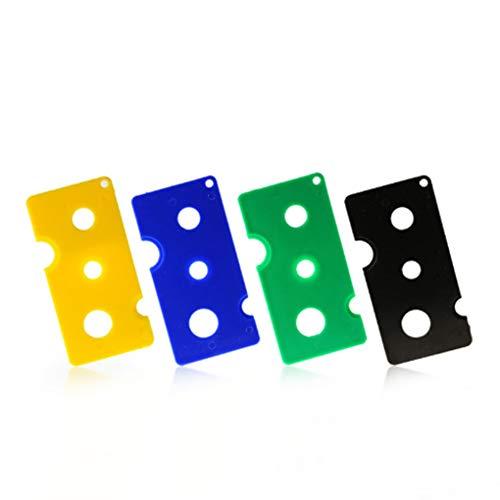 LEVEL GREAT 4pcs Colorido plástico PMMA Aceite Esencial de Roll-on Botellas Bola de Rodillo Clave abrelatas Herramienta removedor