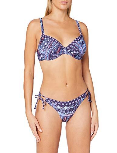 s.Oliver RED LABEL Beachwear LM Damen Medley Bikini-Set, Marine Bedruckt, 42 C