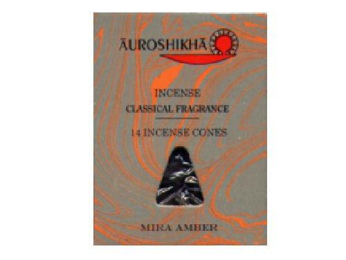 Mira Amber Auroshikha - Conos de incienso con fragancia clásica, paquete de 14 conos