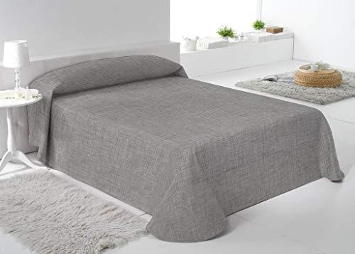 RAFITEXTIL Mani Tagesdecke Alan, für 200er-Bett: 300 x 280 cm, Steingrau