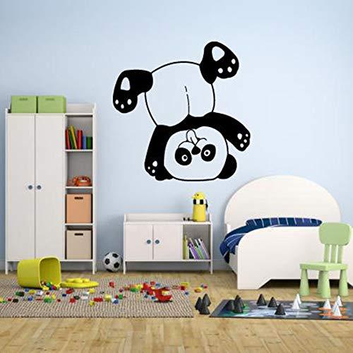 wZUN Pegatinas de Pared Dormitorio de los niños Oso Panda Boca Abajo Dibujos Animados Divertidos decoración del hogar Pegatinas de Vinilo de jardín de Infantes 68X68cm