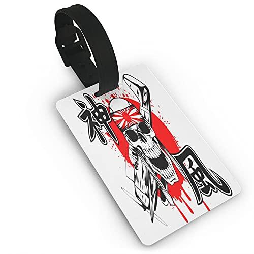 Skulls Kamikaze Etichette per bagagli Unisex Valigia Etichette per Bagaglio Etichetta per Bagagli Tag con Posteriore Completa Copertura Privacy per Navi da Crociera Accessori Da Viaggio Tag