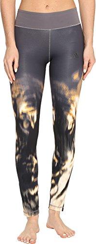adidas Women's Training Wow Drop Tights, Black/Grey/Wow Print, X-Large