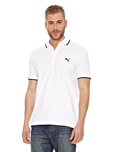 PUMA (12 Sports Polo Casual, Blanc, L