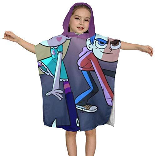 IUBBKI Star gegen Forces of Evil Kids Badetuch mit Kapuze Premium-Qualität Soft Ultra Beach Wrap Poncho Cape Badeanzug Cover Up für Strandpool