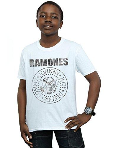 Absolute Cult Ramones Niños Distressed Black Seal Camiseta
