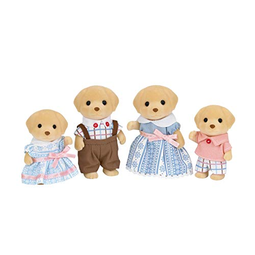 Calico Critters Yellow Labrador Family, Dolls, Dollhouse Figures, Collectible Toys