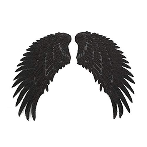 zrshygs 5 Pares de Lentejuelas de Brillo Alas de ángel Hierro en Parches Dulce Colorido Pluma Costura Bordado Apliques Insignia Decoración de Bricolaje