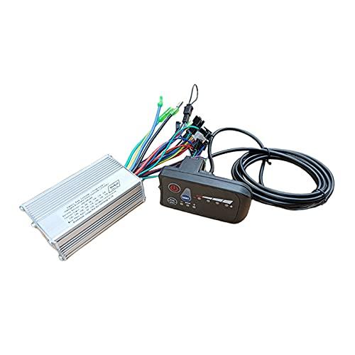 Amagogo Controlador de 24V / 36V / 48V para Motor Eléctrico Sin Escobillas de 250W