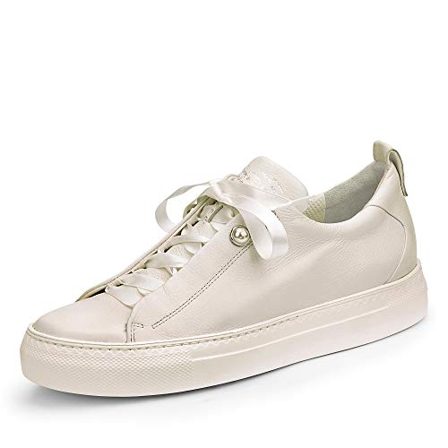 Paul Green 4688 046 Damen Sneaker aus Glattleder mit Lederfutter Lederinnensohl, Groesse 37, beige