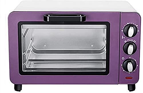 1200W Mini horno eléctrico y parrilla, control de temperatura de 100-230 °, 40 minutos de apagado automático, ideal para asar, hornear, asar y recalentar