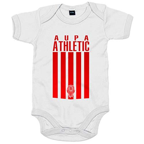 Body bebé ilustración para leones del Athletic - Blanco, Talla única 12 meses