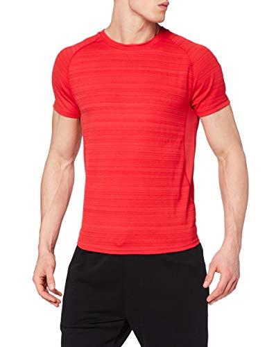 Marca Amazon - find. Camiseta Deporte Básica Hombre, Rojo (Red), M, Label: M
