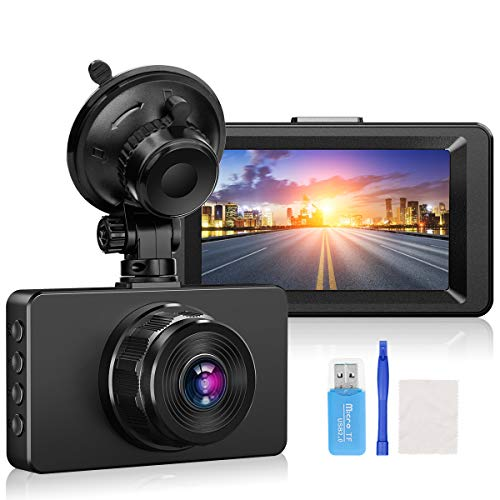 """Front Dash Cam, ssontong Dash Cam 1080P Full HD Dash Camera for Vans, 3"""" IPS Screen 170° Wide Angle Dashcams for Cars with Night Vision WDR 24H Parking Monitor,G-sensor,Loop Recording,Motion Detection"""