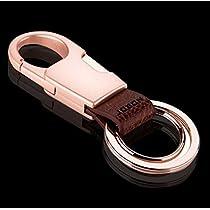 [ DUO:デュオ ] 高級感漂うダブルリング Wリング式 DUO キーホルダー 高機能 カラビナフック オシャレ デザイン 車 家 鍵 (ゴールド)