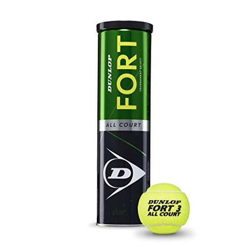 Dunlop Fort all Court, Palla da Tennis Unisex Adulto, Giallo