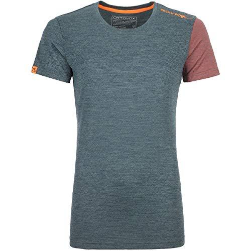 ORTOVOX 185 Rock'n'Wool Short Sleeve W T-Shirt à Manches Courtes Femme, Mélange Vert forêt, S