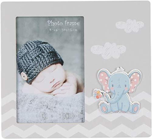 DISOK - Portafotos de Madera Elefante. Porta Fotos Baratos para bautizos. Marcos de fotografía para bautizos.