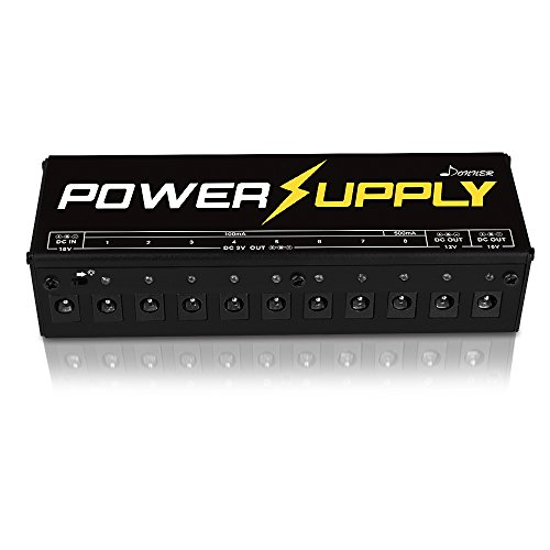 Donner Alimentatore per Pedali Chitarre elettriche multi-output isolati con Adattatore di Alimentazione e Cavi Versione A
