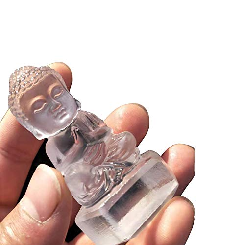 1pc 50mm-70mm Hand Carved Natural Clear Quartz Crystal Stones Buddha encarving Statue Character Sculpture for Sale