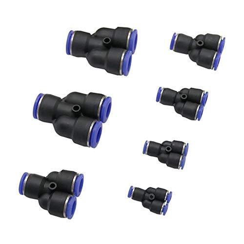 Snger 3Pcs Raccordo rapido a Forma di Y Connettore in PVC PU PE Nylon Giunti di accoppiamento per Tubi dell'Acqua Raccordi Pneumatici