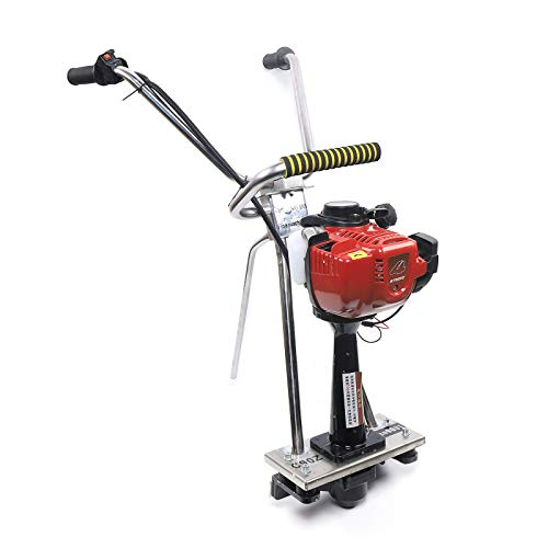 4 Stroke 35.8CC Gas Concrete Wet Screed Commercial Power Screed Vibratory Screed Power Unit Board Concrete Surface Smooth Finish Machine Cement Fits 1-5M Blade 900W Stainless Steel Frame