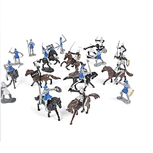 Lpydhfc Soldatini di Plastica Modelli di Soldati di Colore Cavaliere Medievale Soldato Modello Giocattolo Modello di Soldato di Cavallo Giocattoli per Bambini