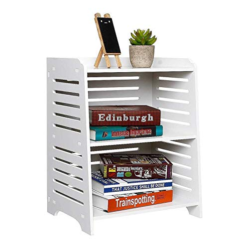 SDBF Moderne einfache PVC Nachtnachttisch mit Schublade Organizer Speicherschrank Mode Mini Schreibtisch Schlafzimmermöbel mit Handschuhen (Color : Without Drawer)
