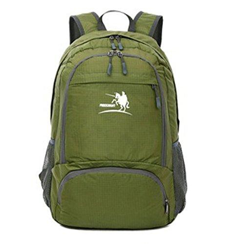 GWELL Outdoor Nylon Wasserdichter Rucksack Rucksack für Camping Klettern Wandern Reisen und Jagd