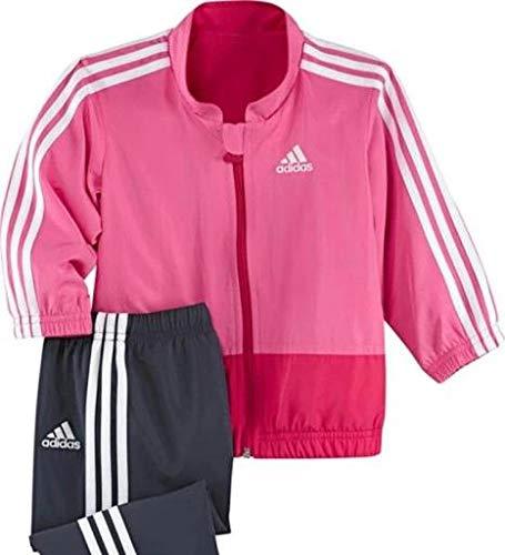 adidas - Chándal Infantil, tamaño 86 UK, Color Top:Ultra Rosa/Blanco Bottom :Urban Sky f12 / Blanco/Blanco