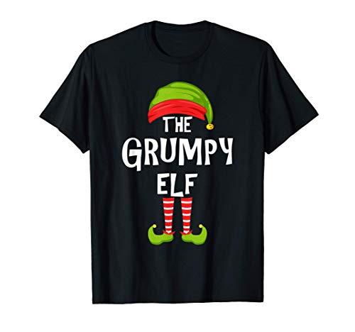 Grupo de pijamas de la fiesta familiar de Navidad del duende Camiseta