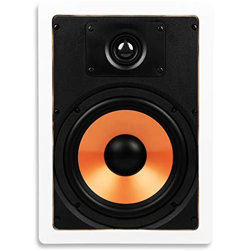 Micca M-8S 8 Inch 2-Way in-Wall Speaker with Pivoting 1' Silk Dome Tweeter (Each, White)