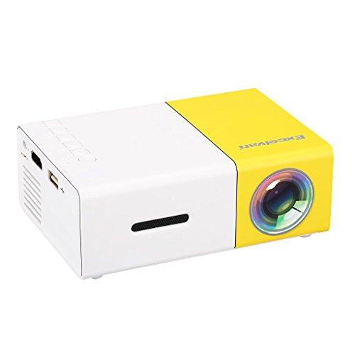 Excelvan YG300 Mini proyector portátil LCD de bolsillo 1080P Full HD Home Cinema Theater